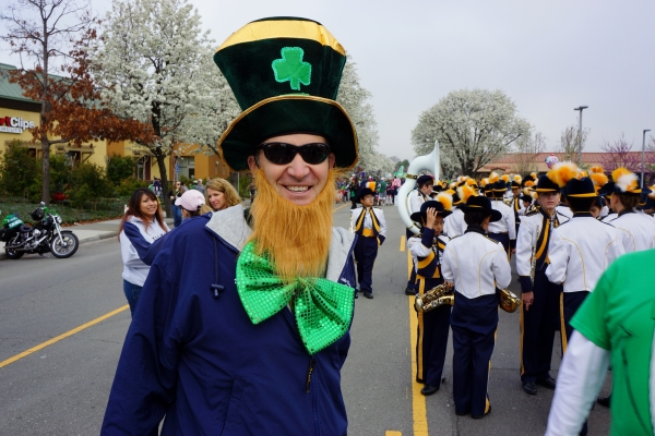 Wells Middle School Principal Kevin Grier at the City of Dublin St. Patrick's Day Parade 2013