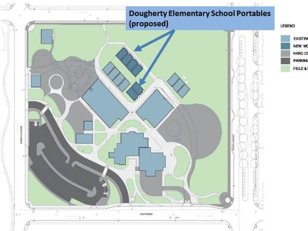 Dougherty Elementary School Proposed Portable Locations