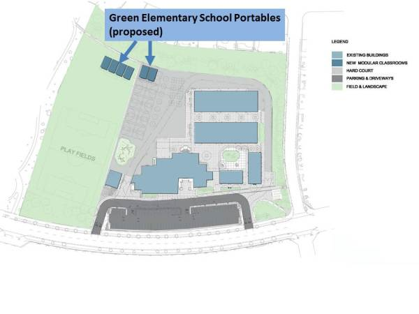 John Green Elementary School Proposed Portable Locations