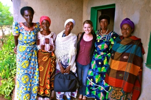 Kelsey with widows of Rwandan genocide victims