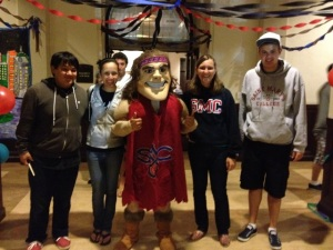St Marys Gael Mascot with Sarah Finn and Friends