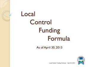 Local Control Funding Formula Overview