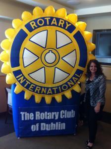 Dublin Rotary Club President Janine Thalblum