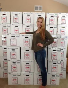 Laura with Donations