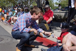 Congressman Swalwell at the Rowell Rancho Rodeo Parade