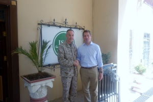 Swalwell in Afghanistan with General Joe Dunford