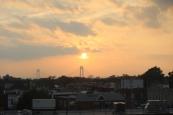 Bridge Sunset from subway