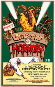 Little Shop of Horrors Pacific Coast Repertory Theatre Production Poster