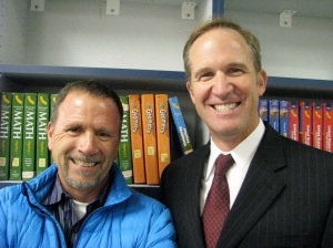 Principal Grier (right) with Project Manager Russ Brooking