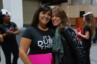 Dublin Cheer Night at the Warriors Game - Gina Hancher and Kristine Cousins