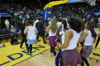 Dublin High School and Fallon Middle School Cheer Teams Warriors Halftime Show 2013