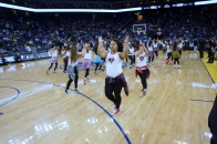 Dublin High School Cheer Team Performs at the Warriors 2013 Halftime Show 1