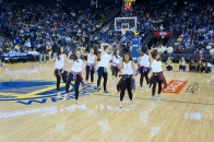 Dublin High School Cheer Team Performs at the Warriors 2013 Halftime Show 2