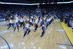 Dublin High School Cheer Team Performs at the Warriors 2013 Halftime Show 3