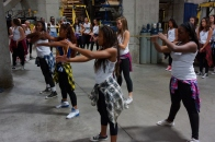 Dublin High School Cheer Team Prepare for Warriors 2013 Halftime Show 1