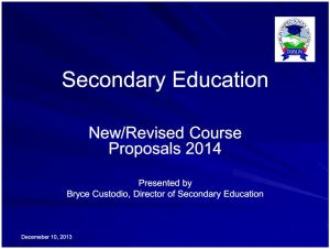 DUSD Course Proposals