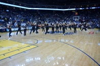 Fallon Middle School Cheer Team Performs at the Warriors 2013 Halftime Show 1