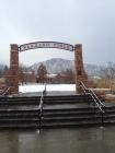 University of Colorado Boulder Farrand Field in winter