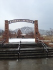 University of Colorado Boulder Farrand Field in winter