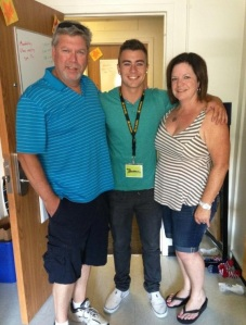 Tristan with his parents