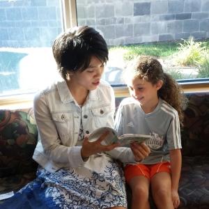 Alicia Tran with student