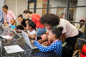 Black Girls Code classroom