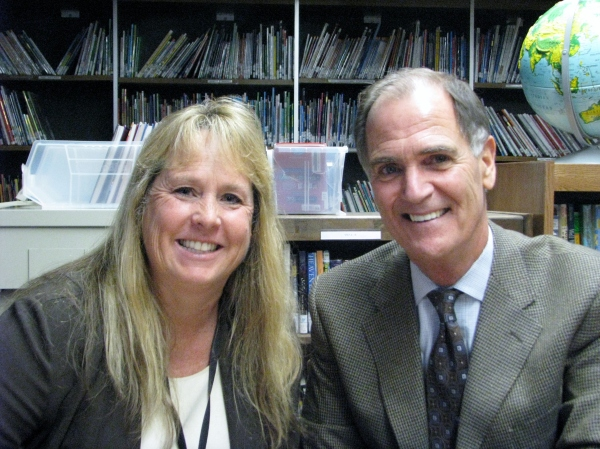 DUSD Superintendent Dr Stephen Hanke and Frederiksen Elementary School Principal Holly Scroggins