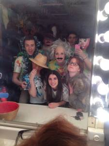 Dublin High School Improv Team Backstage