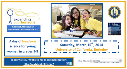 Expanding Your Horizons STEM Program for Middle School Girls UC Berkeley 2014