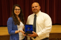 Dublin High Teacher Gregory Rodriguez with Susie Viazzo