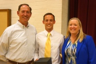 Dublin High School Teacher John Parsons with his parents