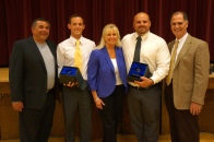 Crystal Apple Award Winners from Dublin High School with City and District Officials