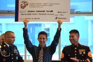 Marine NROTC Scholarship Recipient Edward Perea