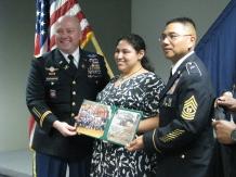 Dublin High School Transition Program End of Mission Celebration at Camp Parks Certificate of Appreciation Presentation