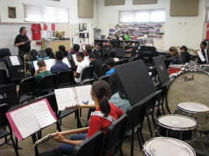 Fallon Middle School Jazz Band Rehearsal 2
