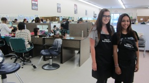 Students Lexie Winter and Lupe Garcia