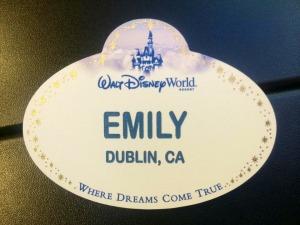 Emily Disney Badge Dublin California