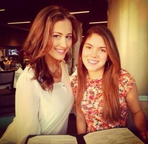 Ina (left) with friend Adriana