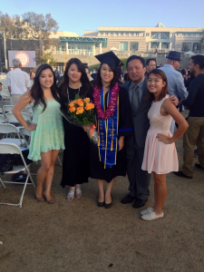 Kirsten Koa and her family at UCSD graduation