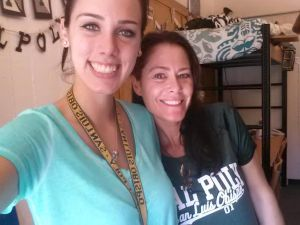 Camille with mom Kerrie