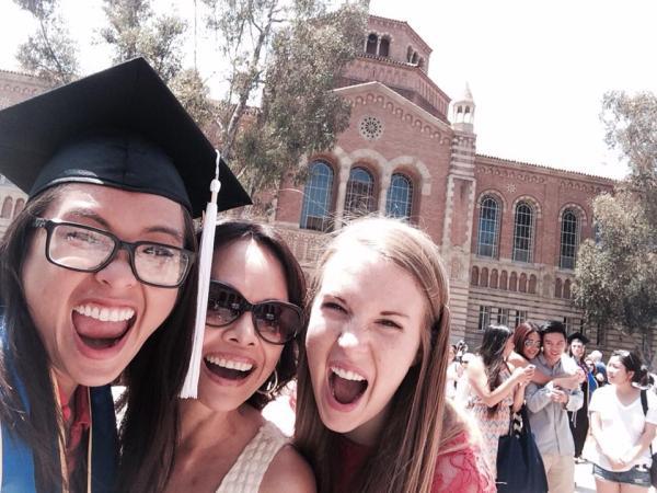 Deanna Hong UCLA Graduation with Friends