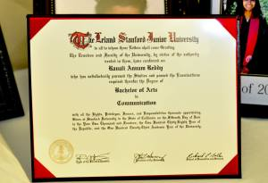 Dublin High School Class of 2010 Alum Ravali Reddy Stanford Diploma