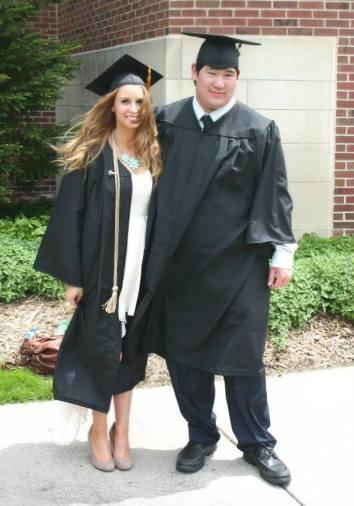Hamline Graduation Erik Wong with Ashley Genadek