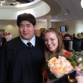 Hamline Graduation Erik Wong with Kelly Carlson