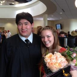 Hamline Graduation Erik Wong with Kelly Carlson