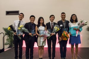 Ravali at the Stanford 2014 Asian American Awards Night