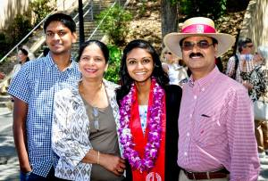 Ravali with her family