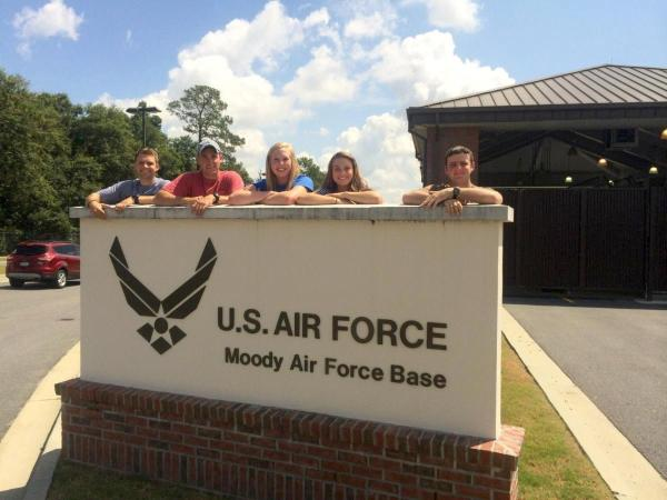 Rebecca Beasley with friends at the US Air Force Academy
