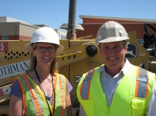 DUSD Senior Director of Facilities Kim McNeely and Project Manager John Hansen