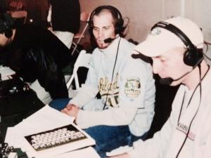 Joe interviewing A's Pitcher Tim Hudson